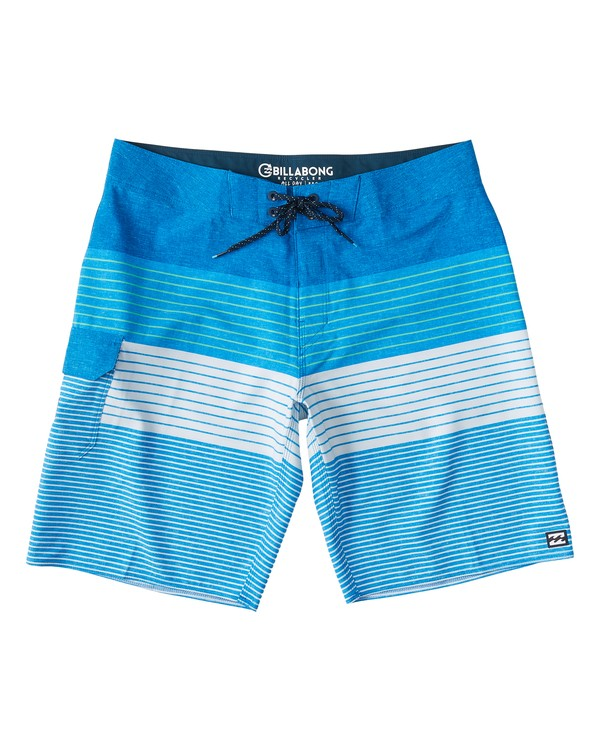 "0 All Day Heather Stripe Pro Boardshort 20"" Blue M134VBAH Billabong"