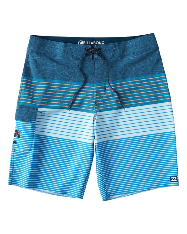 0 All Day Heather Stripe Pro Boardshorts Blue M134VBAH Billabong