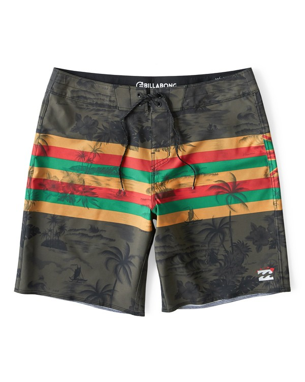 0 Tribong Pro Hawaii Boardshorts Green M153VBTP Billabong