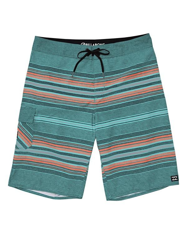 0 All Day Stripe OG Boardshorts Blue M160TBAD Billabong