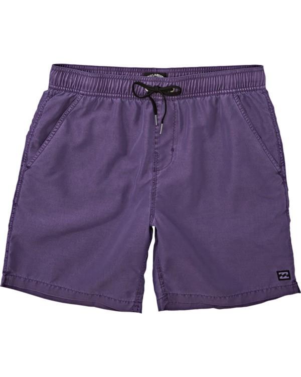 0 All Day Overdye Layback Boardshorts Purple M1821BAB Billabong