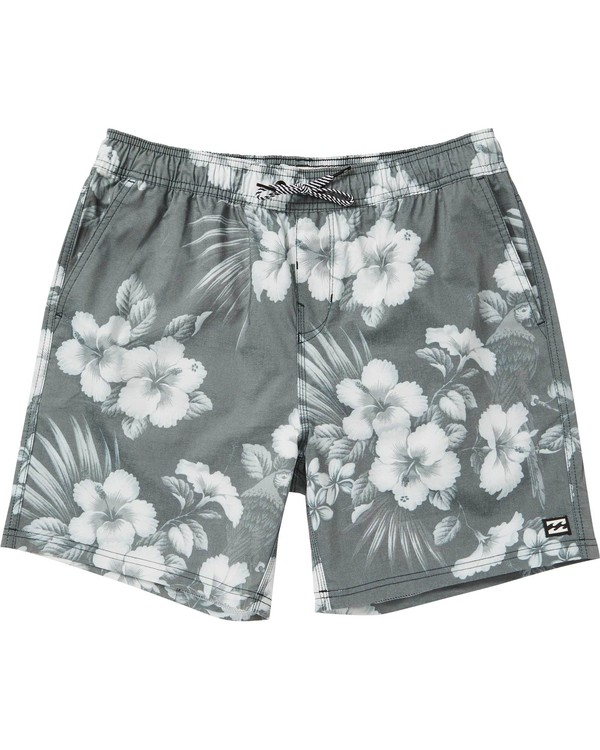 0 Sundays Floral Layback Boardshorts Black M182PBSE Billabong