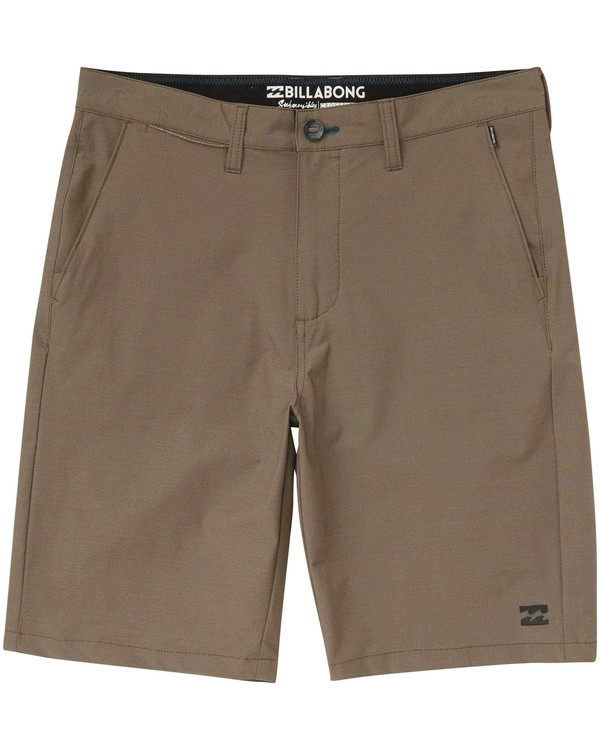 0 Crossfire X Twill Submersibles Shorts Brown M204NBCT Billabong