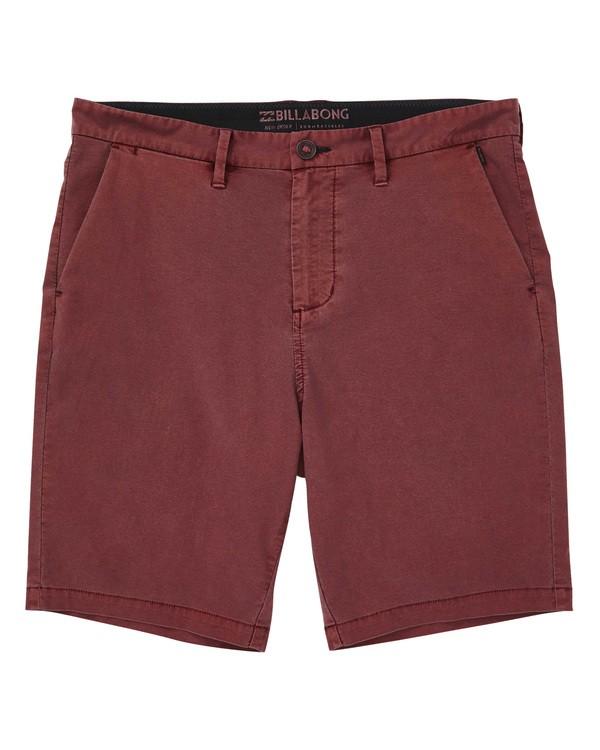 0 New Order X Overdye Shorts Red M207TBNO Billabong
