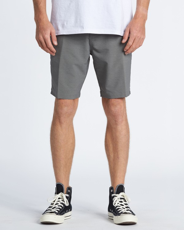 "0 A/Div Surftrek Wick Walkshort 20"" Grey M2161BSW Billabong"