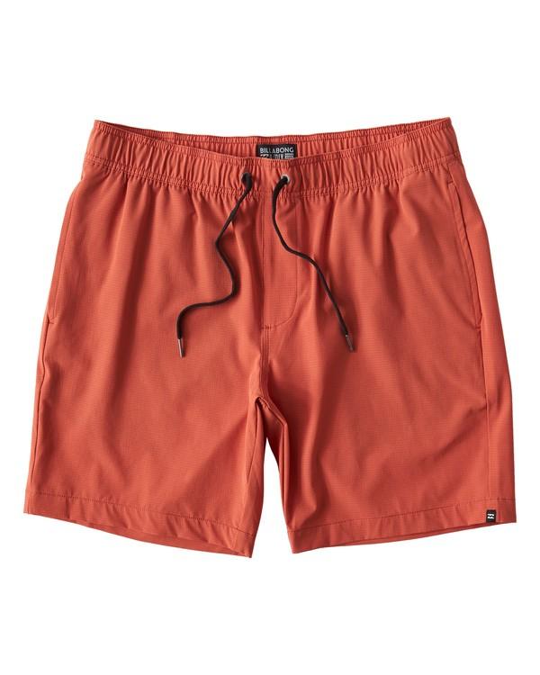 0 Surftrek Perf Elastic Shorts Red M219VBSP Billabong