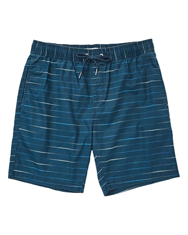 0 Larry Layback Sunday Boardshorts Blue M231TBLS Billabong