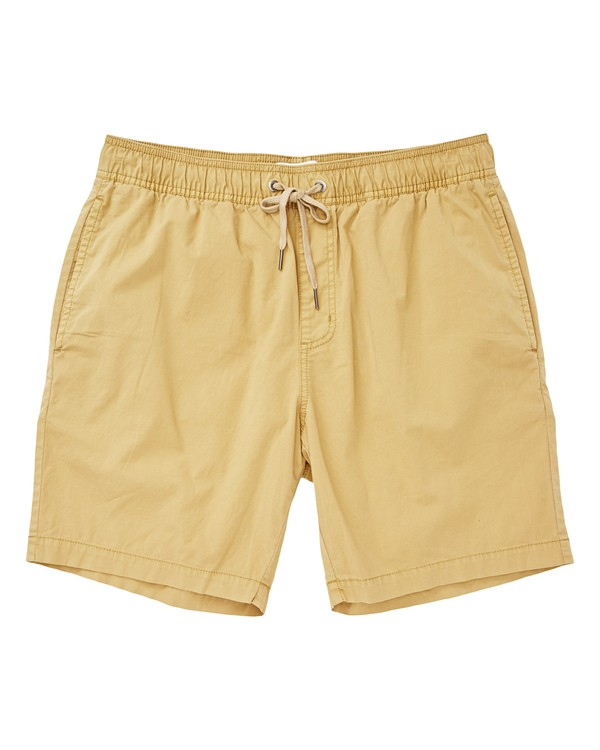 0 Larry Layback Walkshorts Yellow M239TBLL Billabong