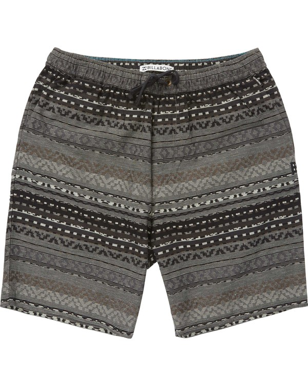 0 Larry Layback Jacquard Shorts Black M241QBLJ Billabong