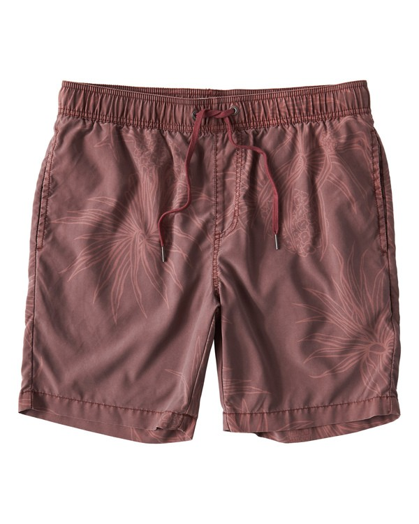 0 Larry Layback Sunday Walkshorts Red M241VBLS Billabong