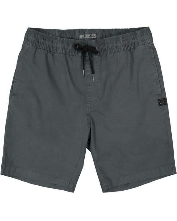 0 Larry Stretch Elastic Shorts Grey M244QBLS Billabong