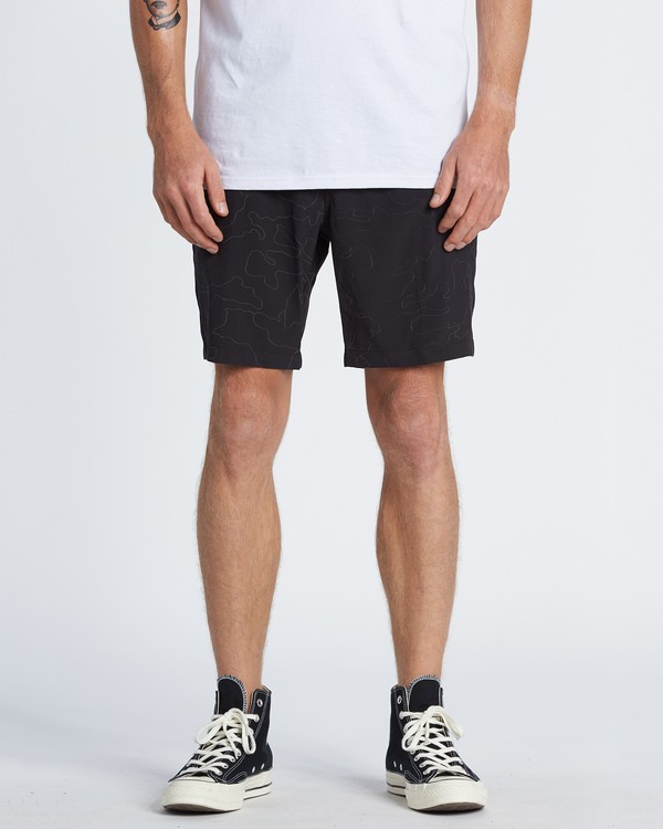 0 Surftrek Reflex Elastic Performance Walkshorts Black M2481BSR Billabong