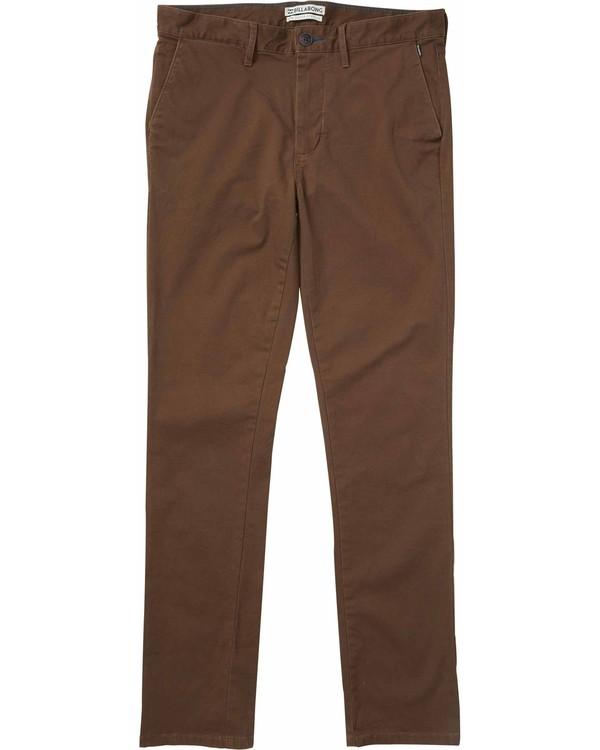 0 New Order Chino Pant Brown M305LNOC Billabong