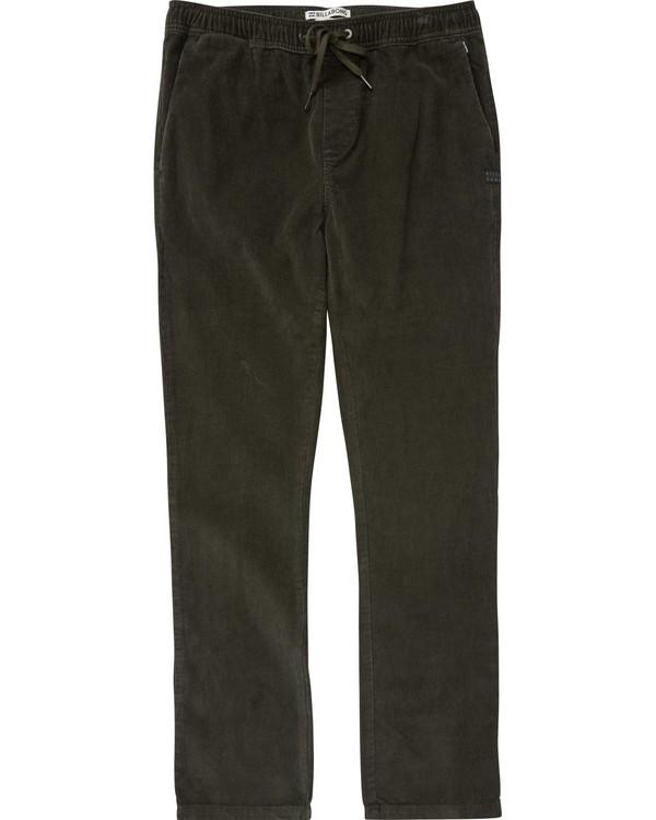 0 Larry Layback Cord Pant Black M312QBLC Billabong