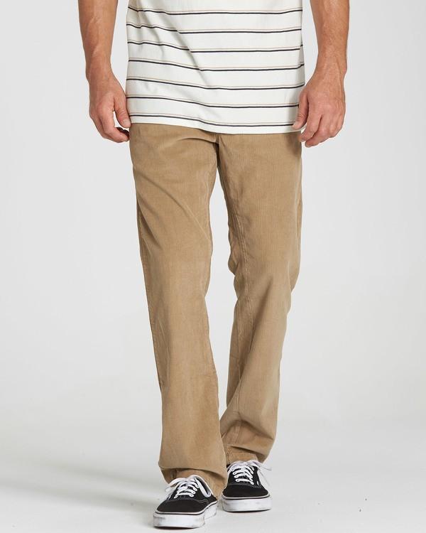 0 Larry Layback Cord Pant Grey M312QBLC Billabong