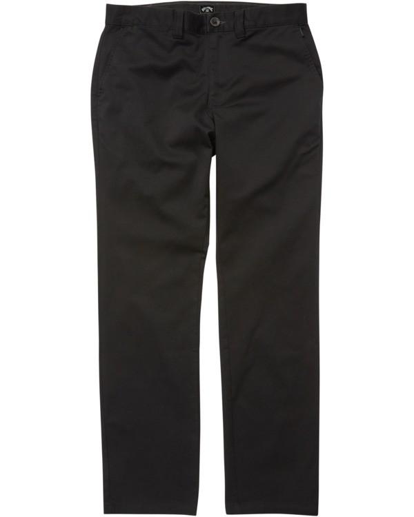 0 Carter Stretch Chino Pant Black M3143BCS Billabong