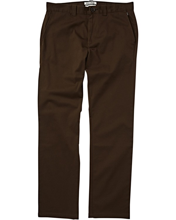 0 Carter Stretch Chino Pant Brown M3143BCS Billabong