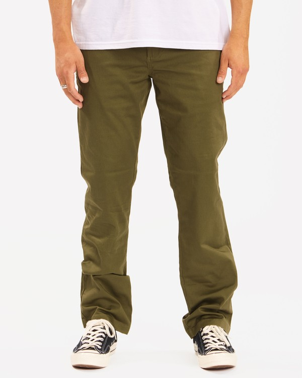 0 Carter Stretch Chino Pant Green M3143BCS Billabong