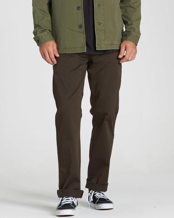 0 Carter Stretch Chino Pants Brown M314QBCS Billabong