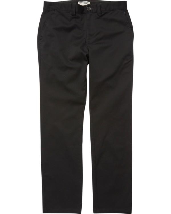 0 Carter Stretch Chino Pants Black M314VBCS Billabong