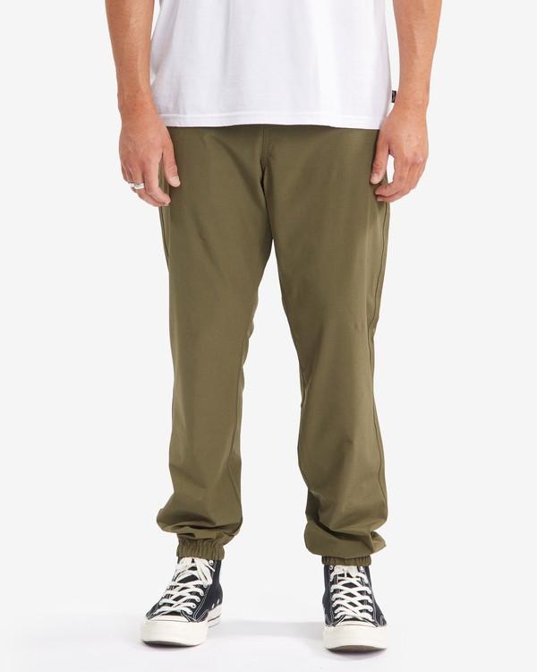 0 A/Div Transport Elastic Waist Pants Green M3153BTP Billabong