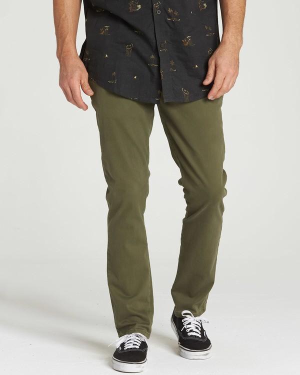 0 New Order Chino Pant Green M315QBNO Billabong