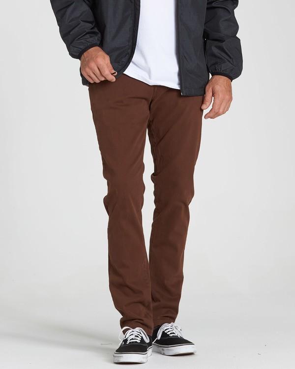 0 New Order Chino Pant Brown M315QBNO Billabong
