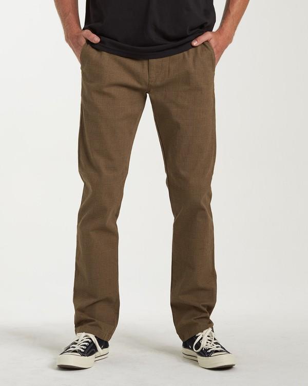 0 Carter Yarndye Chino Pants Grey M315VBCY Billabong