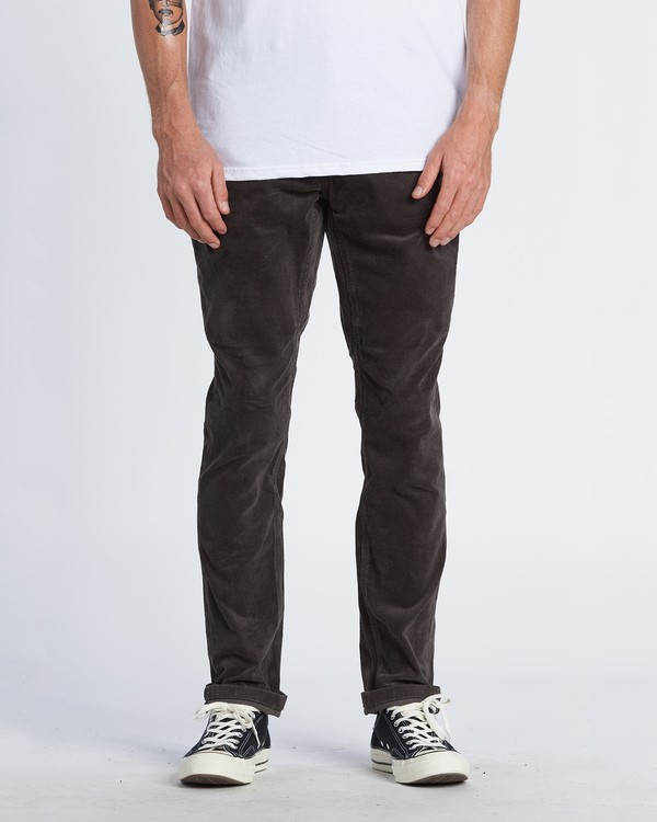 0 Outsider Corduroy Pant Black M316WBOU Billabong