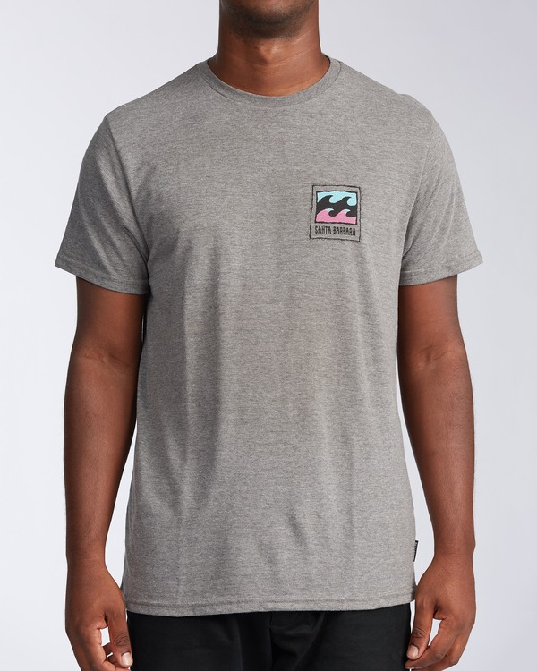 0 Santa Barbara Burleigh Wave Short Sleeve T-Shirt Green M401KBSB Billabong
