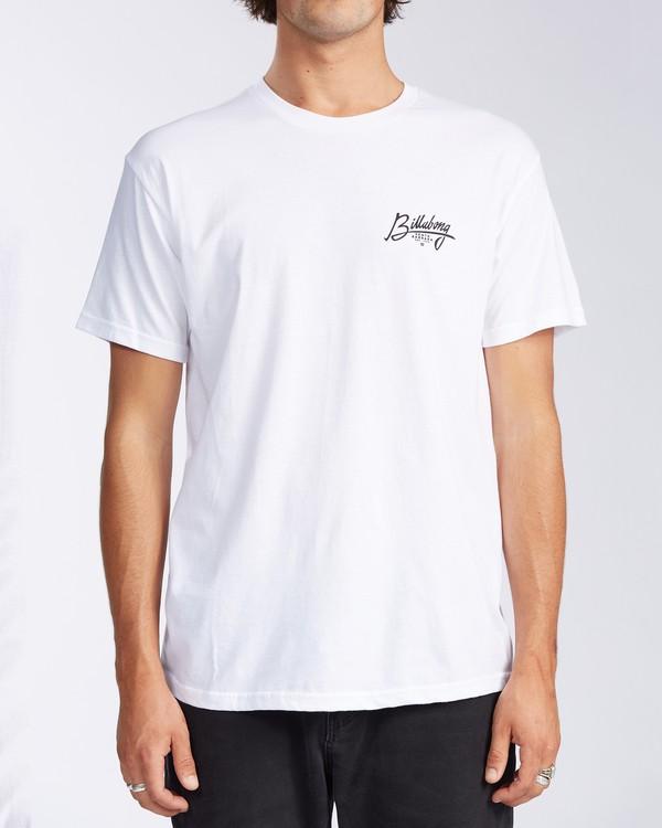 0 Santa Barbara Stamp Short Sleeve T-Shirt White M401KSSB Billabong
