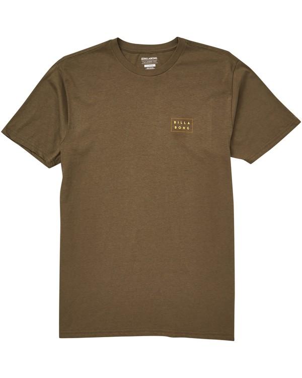 0 Die Cut Theme T-Shirt Green M401QBDT Billabong