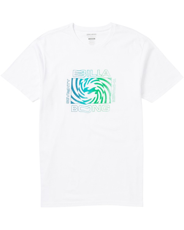 0 Psycho Tee Shirt White M401SBPS Billabong