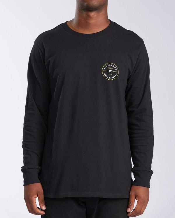 0 Santa Barbara Rotor Long Sleeve T-Shirt Black M402KRSB Billabong
