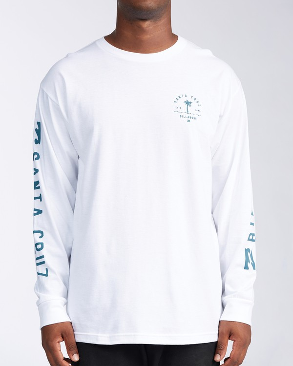 0 Santa Cruz Vibes Short Sleeve T-Shirt White M402KVSC Billabong