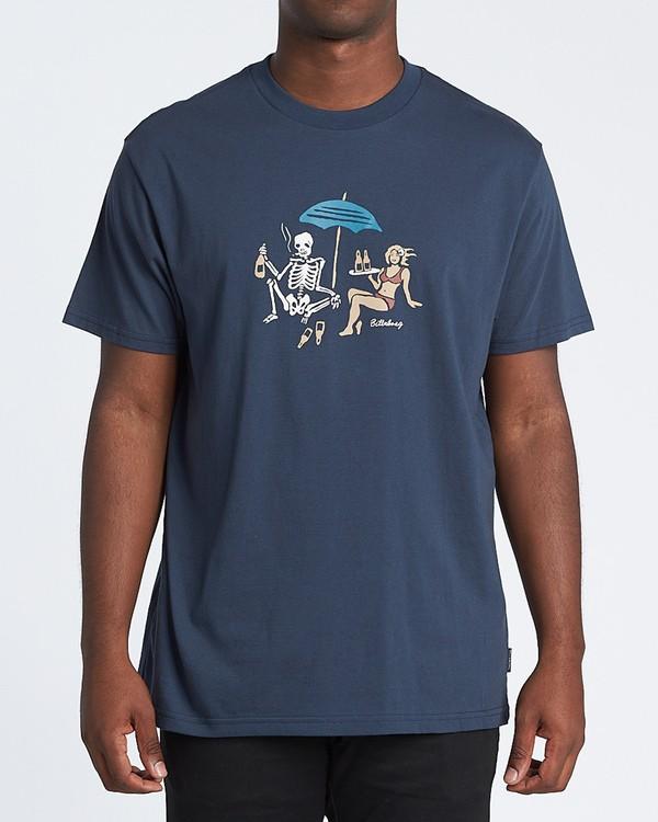 0 Apocalypse Short Sleeve T-Shirt Blue M4041BAP Billabong