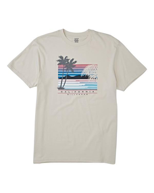 0 Cali Coastline Short Sleeve T-Shirt Brown M4041BCC Billabong