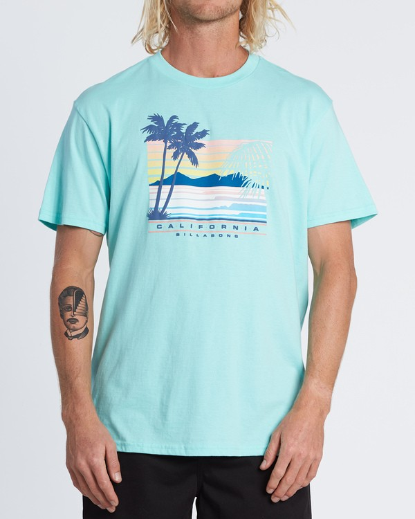 0 Cali Coastline Short Sleeve T-Shirt Grey M4041BCC Billabong