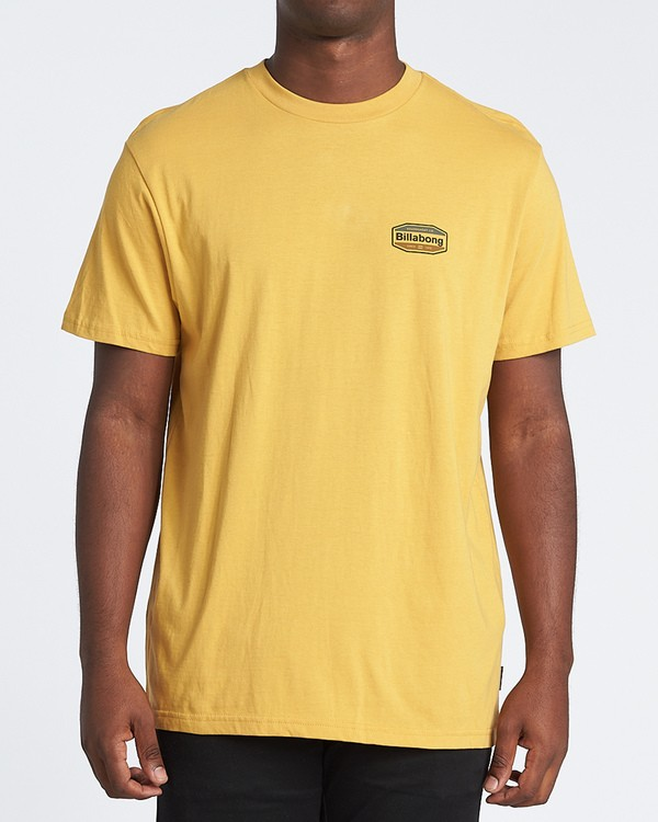 0 Gold Coast Short Sleeve T-Shirt Yellow M4041BGC Billabong