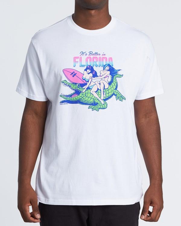 0 Its Better Short Sleeve T-Shirt White M4041BIB Billabong