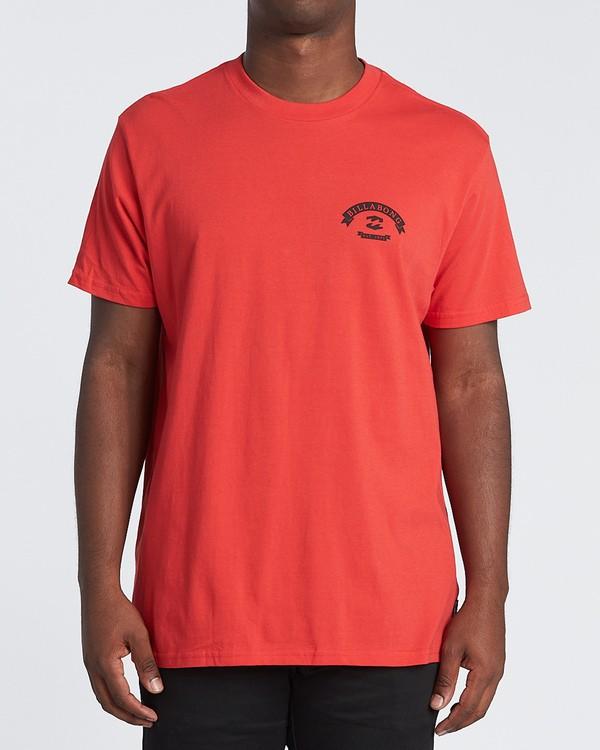 0 Locked Short Sleeve T-Shirt Red M4041BLO Billabong