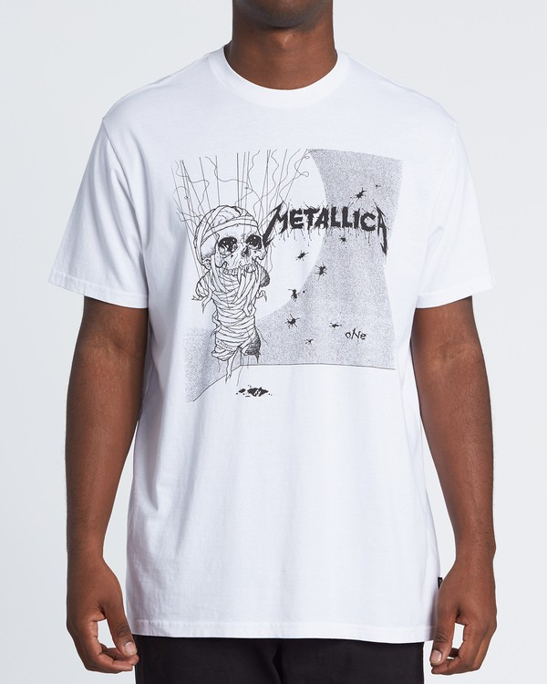 0 Metallica One Short Sleeve T-Shirt White M4041BON Billabong