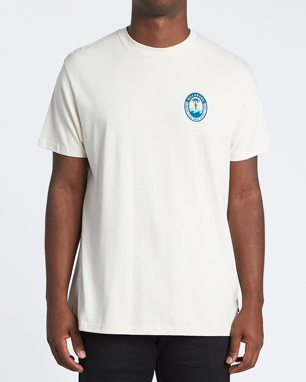 0 Palmer Short Sleeve T-Shirt White M4041BPA Billabong