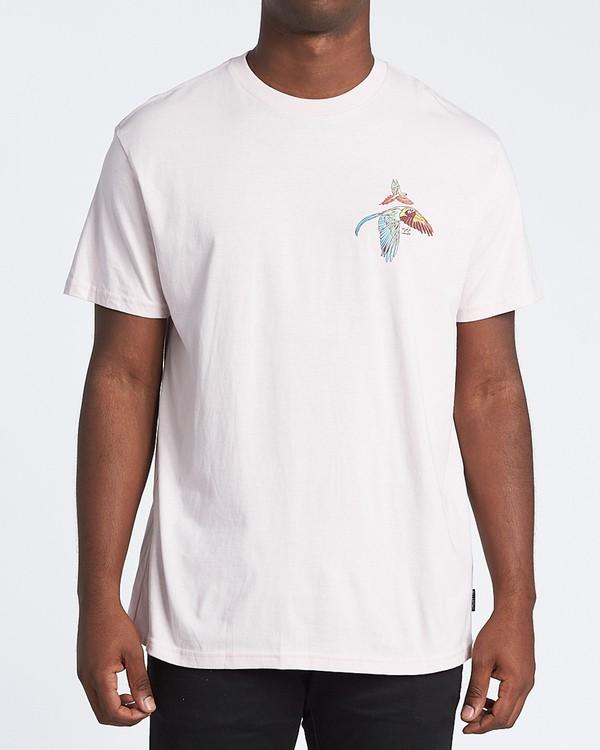 0 Parrot Bay Short Sleeve T-Shirt Purple M4041BPB Billabong