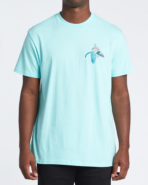 0 Parrot Bay Short Sleeve T-Shirt Grey M4041BPB Billabong