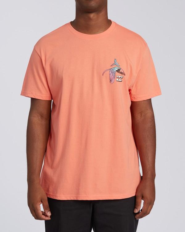 0 Parrot Bay CN Short Sleeve T-Shirt Orange M4041BPC Billabong