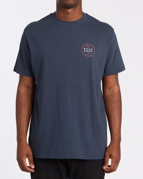 0 Rotor USA Short Sleeve T-Shirt Blue M4041BRU Billabong