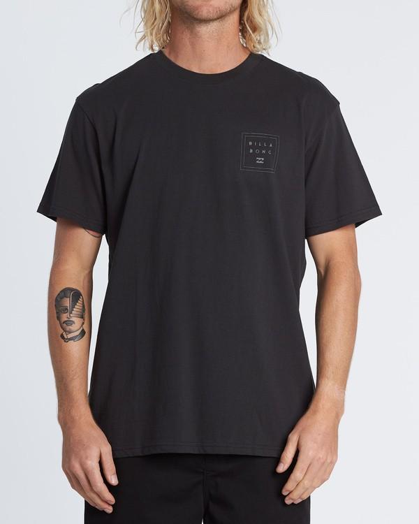 0 Stacked Reflective Camo Short Sleeve T-Shirt Black M4041BSE Billabong