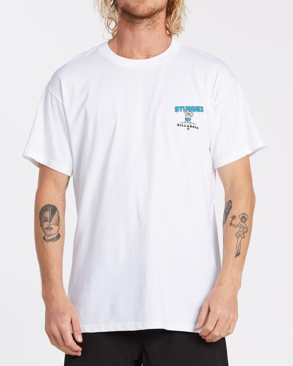 0 Stubbies Koala Short Sleeve T-Shirt White M4041BXR Billabong
