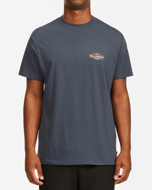 0 Autoshop Short Sleeve T-Shirt Blue M4042BAU Billabong